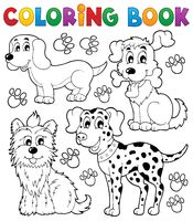 Coloring book dog theme 5 - picture illustration.