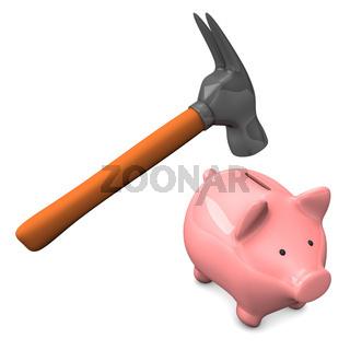 Hammer Piggy Bank