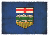 Grunge flag of Alberta (Canadian province)