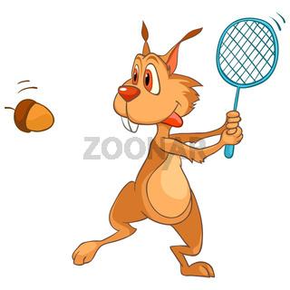 Cartoon Character Squirrel