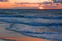 Sonnenuntergang am Strand der Ostsee
