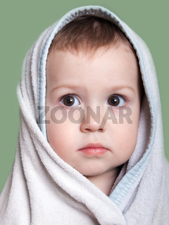Child in towel