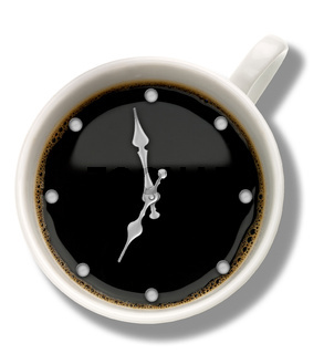 Coffee watch. Abstract food and drink backgrounds
