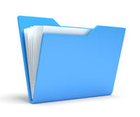 Blue folder.  Isolated on white background