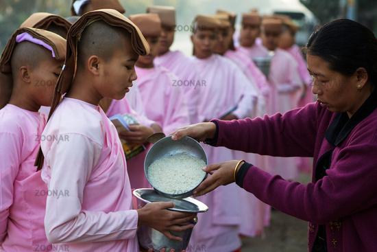 Sisters at the morning walk in Mandalay