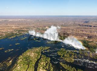 Victoria Falls on Zambezi River
