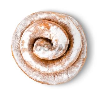 Cinnamon bun isolated