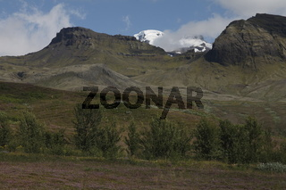Peaks near Skaftafell. Vatnajökull National Park (the largest national park in Europe)