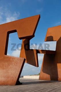 Sculpture in San Sebastian, Spain