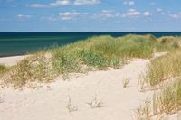 Dünen am Strand auf Sylt an der Nordsee