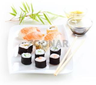 Japanese sushi food shot setting