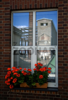 Fenster, Grube Reden, Schiffweiler, Saarland, Deutschland