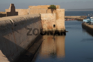City wall of the Portuguese Fortified City of Mazagan. El-Jadida