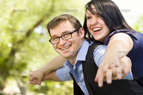 Young Couple Having Fun in the Park