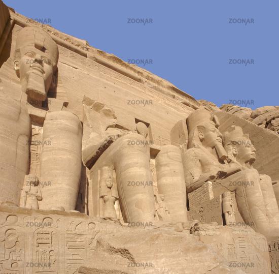 sculptures at Abu Simbel temples