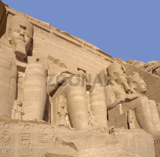 sculptures at Abu Simbel temples