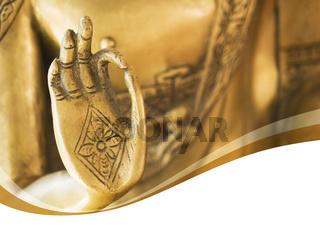 Einladungskarte mit Wellen - Golden Buddha Hand