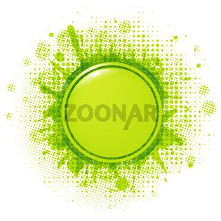 Green Blobs With Speech Bubble