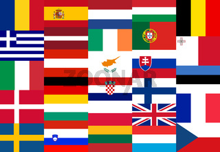 National flags of the EU member states