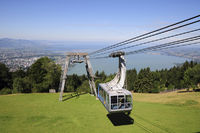 Ropeway in Austria with Lake Constance