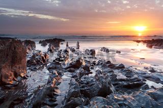 Sunset Woolacombe   North  Devon coast