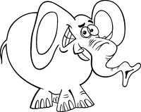 cartoon elephant for coloring book