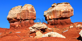 Twin Rocks of Capitol Reef Utah
