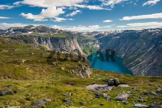 View of lake Ringedalsvatnet, Norway