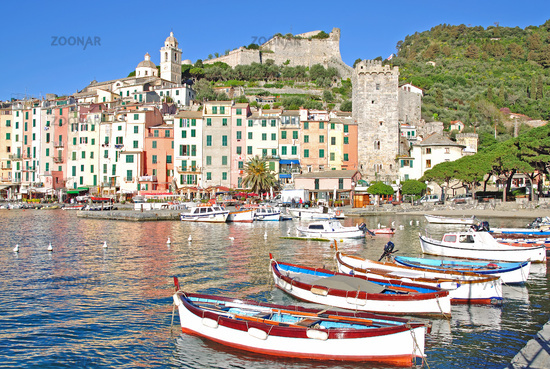 Portovenere on the italian Riviera in Liguria