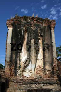 Der Wat Kon Laeng Tempel in der Tempelanlage von Alt-Sukhothai in der Provinz Sukhothai im Norden von Thailand in Suedostasien.