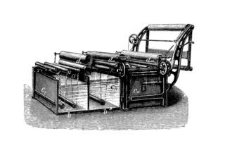 Appreturmaschine: Breitwaschmaschine, Historische