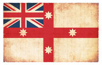 Historic grunge flag of Australia (1830)
