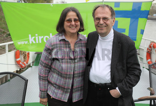deutscher Politiker Dr.Reinhard Höppner(SPD) mit Ehefrau Renate Pilgerschiff zum 34.Kirchentag 2013