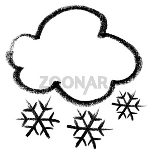 snowy cloud icon
