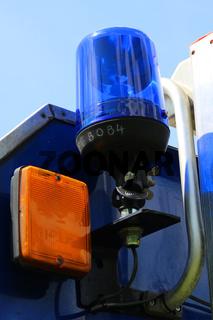 Blaulicht am THW Fahrzeug