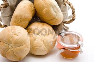 Semmeln und Honig