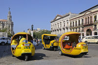 small taxis in old town of Havanna