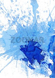 blaue kleckse auf weiß
