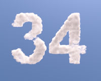 Number 3 and 4 cloud shape