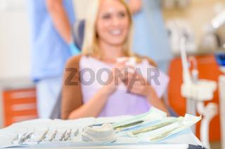 Dental tools close up