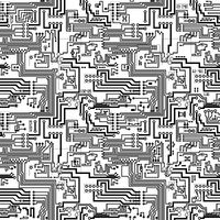 Circuit board seamless technological pattern