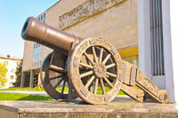 Old Russian cannon «Licorne»