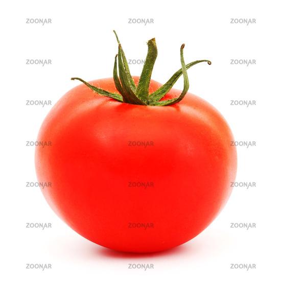 one tomato isolated on white