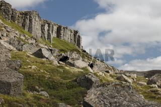 Gerðuberg basalt columns. Snæfellsnes peninsula
