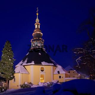 Seiffen Kirche Winter - Seiffen church in winter 03