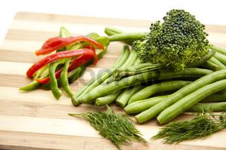 Grüne  Bohnen mit Broccoli