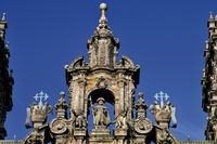 Spain: Facade detail of the Cathedral of Santiago