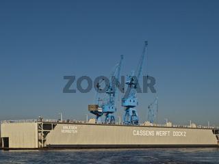 Dock 2 der Cassens-Werft