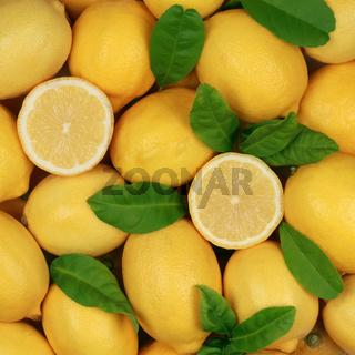 Zitronen bilden einen Hintergrund