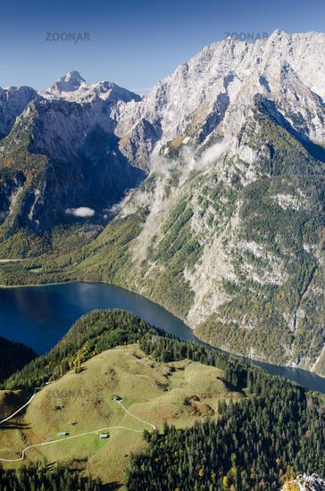 Königssee and mountain Watzmann